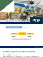 Fundamentos en las decisiones de inversión