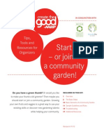 Join or Start Community Garden - Tools and Resources for Organizers