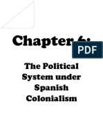 The Political System under Spanish Colonialism