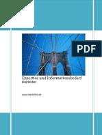 Expertise Und Informationsbedarf