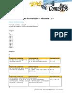 TESTE Filosofia 11 - Lógica Proposicional - Correção