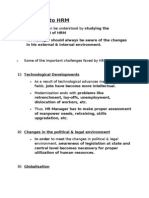Challenges & Roles of HR Manager + Job Evaluation