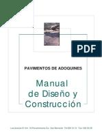 Manual de Diseno y Construccion Pavimentos de Adoquines