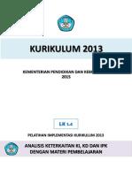 1.4    LK Analisis Keterkaitan KI, KD dan IPK dengan Materi Pembelajaran