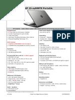 HP Notebook - 15-ay008tx