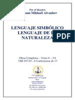 LENGUAJE SIMBÓLICO LENGUAJE DE LA NATURALEZA