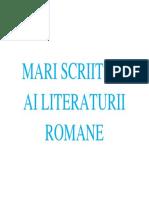 MARI SCRIITORI AI LITERATURII ROMANE.docx