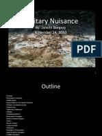 Sanitary Nuisance
