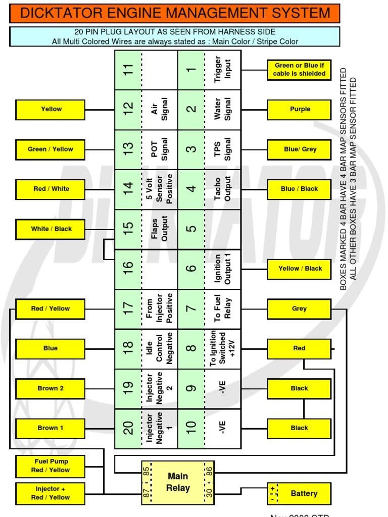 dicktator connection diagrams september 2009 ignition system rh scribd com Audi ECU Schematic ECU Pinout