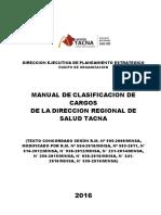 MANUAL DE CLASIFICADOR CARGOS DIRESA 2017