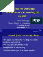 Hoorcollege Klinische Voeding November 2010bb