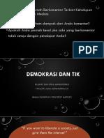 Filsafat dan Etika Administrasi - Demokrasi dan TIK 2019.pptx