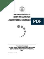 Instrumen Panduan KTSP Sekolah Kategori Mandiri (SKM)