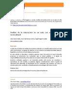 Analisis De La Interaccion En Un Aula Con Alta Diversidad