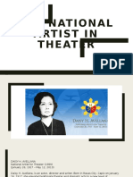 NATIONAL ARTIST IN THEATHER