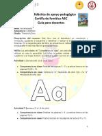 Guía 0  Cartilla de fonética ABC sucre
