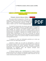 Informativo STF nº 954 (30 de setembro a 04 de outubro de 2019).