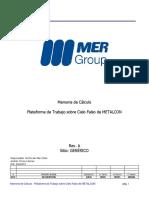 Memoria de Cálculo - Plataforma de Trabajo sobre Cielo Falso de METALCON