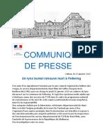 COMMUNIQUÉ de Presse Lynx
