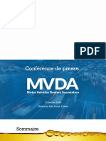 Présentation de la Motor Vehicles Dealers Association