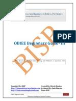 OBIEE Beginner Guide III