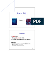 Basics of SQL