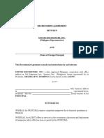 Recruitment Agreement