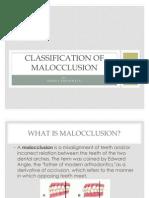 Classification of Malloclusion1