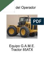 Manual de Operación Tractor 85ATX español