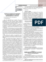 Decreto de Urgencia N° 013-2020