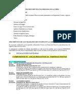 Memoria Descriptiva Valorizada de la Obra-II.SS.