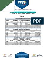 CALENDARIO DE JUEGO - XIV JUEGOS MENORES AZUAY 2019