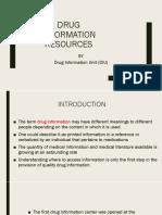 DRUG INFORMATION RESOURCES.pptx