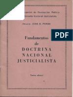 Fundamentos de doctrina Nacional Justicialista