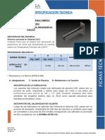 SOPORTE MENSULA SIMPLE  F2513-2516