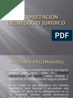 Clase 08 La interpretación del negocio jurídico