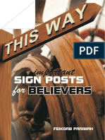 Important Sign Posts for Believers