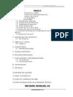 3.0 Memoria Descritiva Informe Mensual 2 Huaccoto