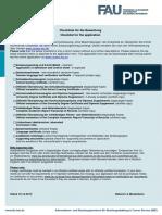 Checklist-international