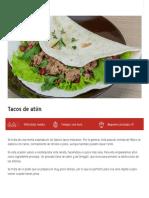 Tacos de Atún - Conservas Albo