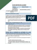 02.05 PLAN DE GESTIÓN DE ALCANCE