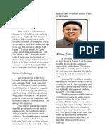 kim jong il newspaper article