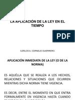 APLICACIÓN DE LA LEY - TEORÍA