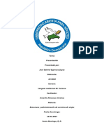 Estructura y Administracion de Servicios de viajes tarea 1