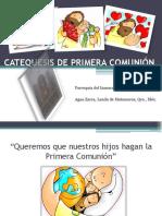 CATEQUESIS DE PRIMERA COMUNION PAPAS Y PADRINOS