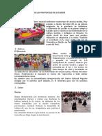 BAILE FOLKLÓRICO DE LAS PROVINCIAS DE ECUADOR