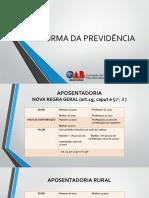 Reforma Previdenciária