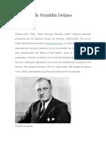Biografía de Franklin Delano Roosevelt