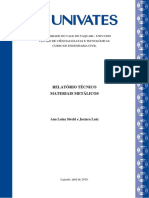Modelo de relatório técnico - METAIS 2019A