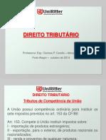 Aula Uniritter - Direito Tributário - aula VII - Tributos de competência da União